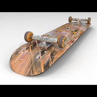 skateboard materials hdri max