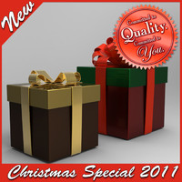 christmas giftbox special 3d max