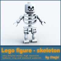 3d model lego character