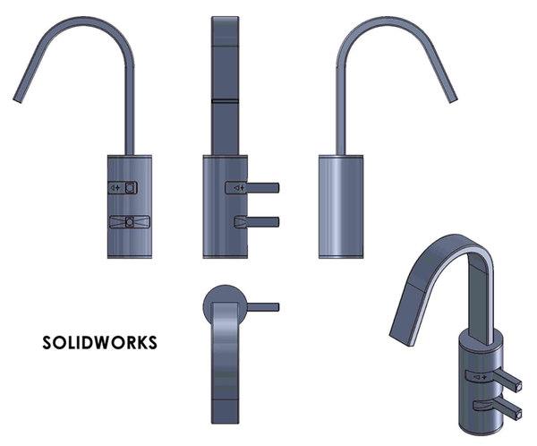 Solidworks Model Kitchen Faucet