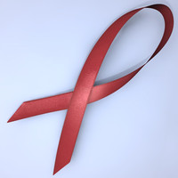 AIDS ribbon_OBJ/FBX/3DS