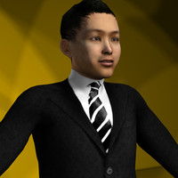 maya rigged character men business