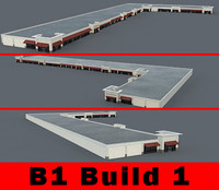 3d building b1 complete retail model