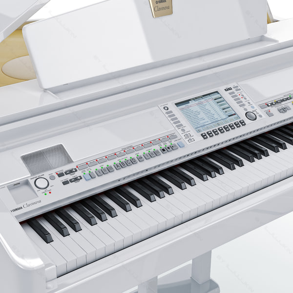 3d digital grand piano yamaha model for Yamaha clavinova cvp 409
