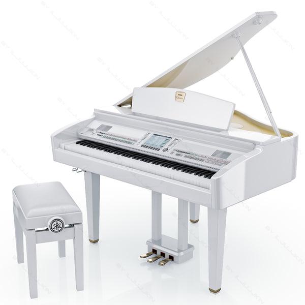 yamaha white grand piano - photo #9