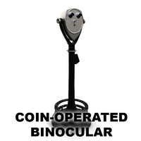 coin operated binocular 3d max