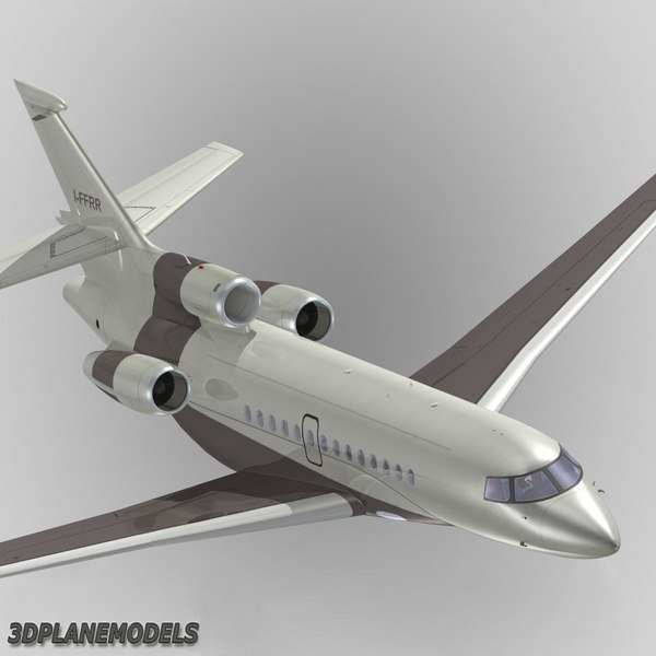 dassault falcon 7x private 3d 3ds - Dassault Falcon 7X Private livery 4... by 3Dplanemodels