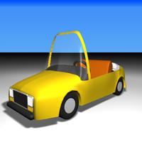 cartoon convertible 3d 3ds