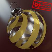 3d christmas tree ornament 2010