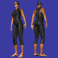 Female Olympic Swimmer