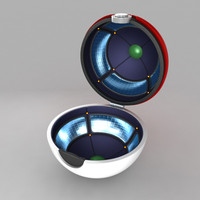 pokeball open animation 3d obj