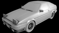 3d model toyota ae86 sprinter trueno