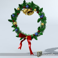 christmas wreath 3ds