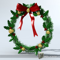 3d christmas wreath