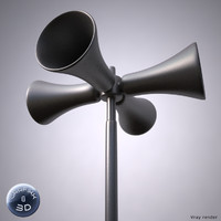 civil defense siren 3d model