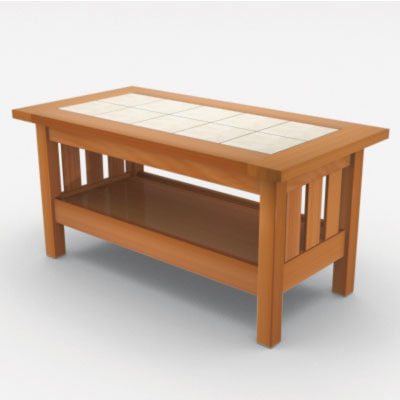 3d Craftsman Coffee Table