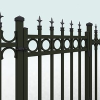 3d model fence