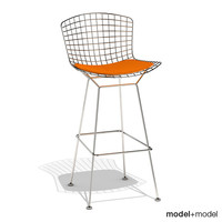 3d bertoia barstool knoll stool model