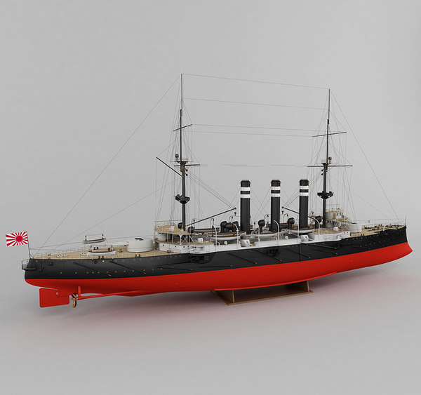 3d model of armored cruiser iwate japan - Armored cruiser