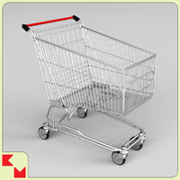 3d model shopping trolley