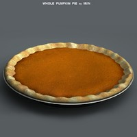 pumpkin pie 3d model