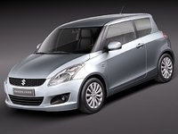 3d model suzuki swift 2011