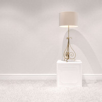 Table lamp scroll