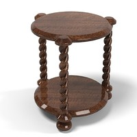 traditional  round table classic twisted 3 legs