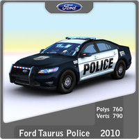 3d 2010 taurus police games model