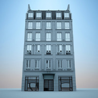 3d model hotel european europe