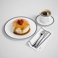 3d pancake breakfast model