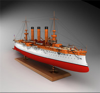 armored cruiser brooklyn 3d model