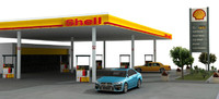 Gas Station (low poly)