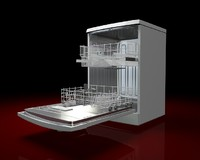 3d model dishwasher