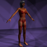 3d model rigged character pack female