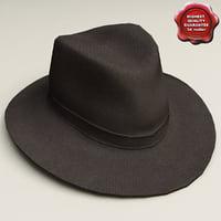 3d cowboy hat model