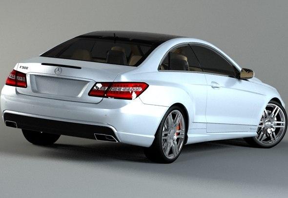 Mercedes benz e class coupe 3d model for Mercedes benz all models