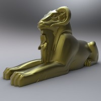ancient egyptian egypt statues 3d obj