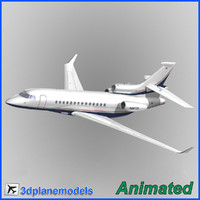 3d model of dassault falcon 7x private