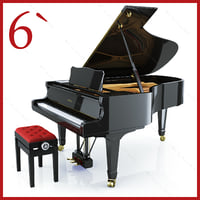3d concert grand piano yamaha