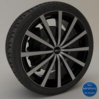 3d model msr 042 black rim