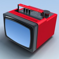 3ds max old portable tv
