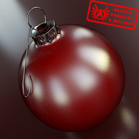 christmas tree ornament 2010 3d max