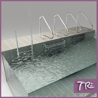 3d swimming pool ladders