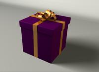 christmas gift present obj