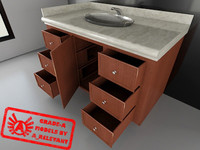 Restroom Counter Collection 1 - Restroom Counter & Sink - 3ds max 2010 - Mental Ray