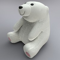 obj cute polar bear toy