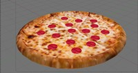 3d pepperoni pizza