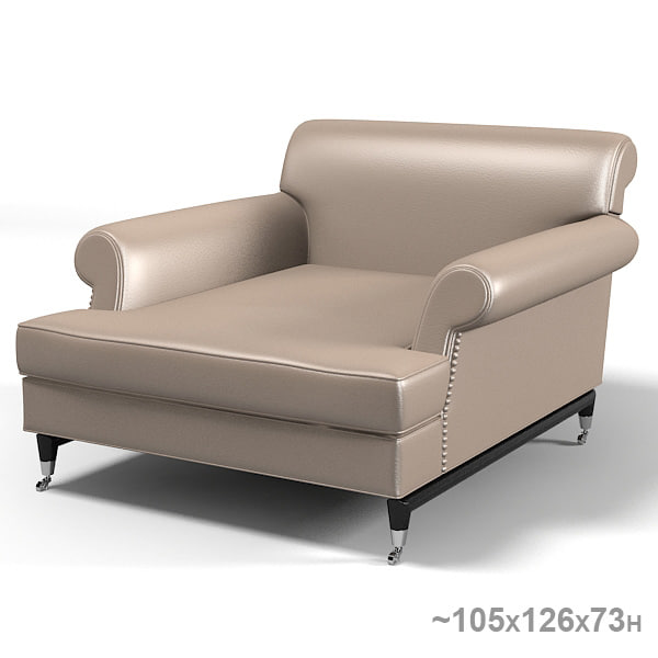 baxter classic modern contemporary armchair chair leather rolling.jpg
