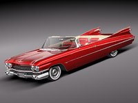 cadillac eldorado convertible 62 3d model